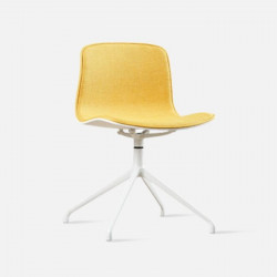 L Shape with stainless Steel Legs, Yellow Fabric