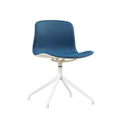 L Shape with stainless Steel Legs, Blue Fabric