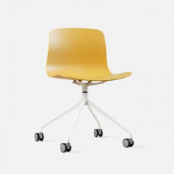 L Shape with wheels, Yellow Fabric