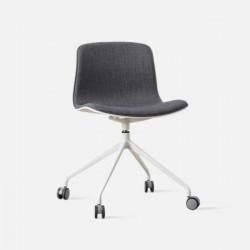 L Shape with wheels, Dark Grey Fabric
