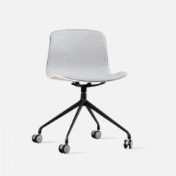 L Shape with wheels, Grey Fabric