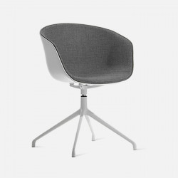 U Shape Armchair, W57, Grey