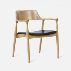 Hiroshima Armchair, W62, Oak