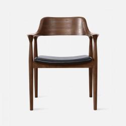 Hiroshima Armchair, W62, Walnut
