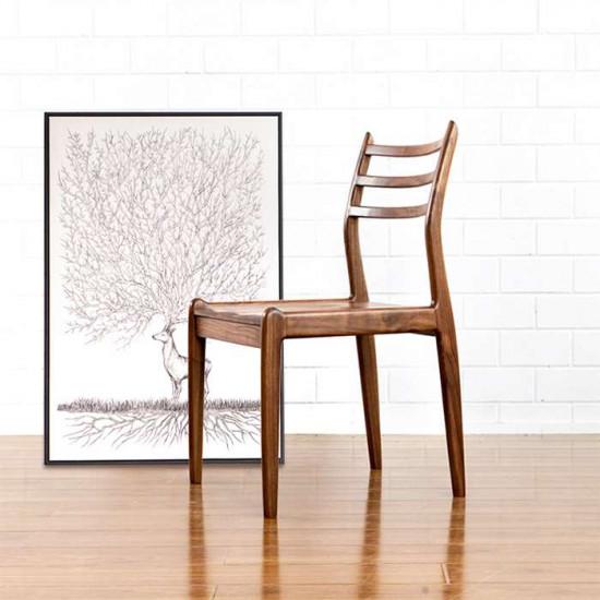Dandy Wooden Chair, W48, Walnut