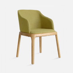 Fin Chair, W56, Olive with Natural Ash