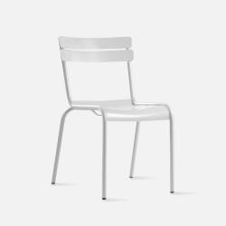 Aluminium 093 outdoor/indoor dining chair, W44, White [DISPLAY]