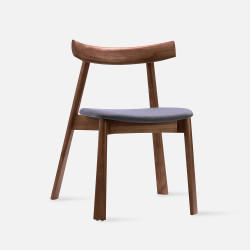 Elbow Chair no.2, W48, Walnut Brown