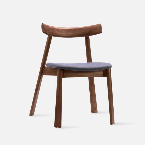 Elbow Chair no.2, W48, Walnut Brown