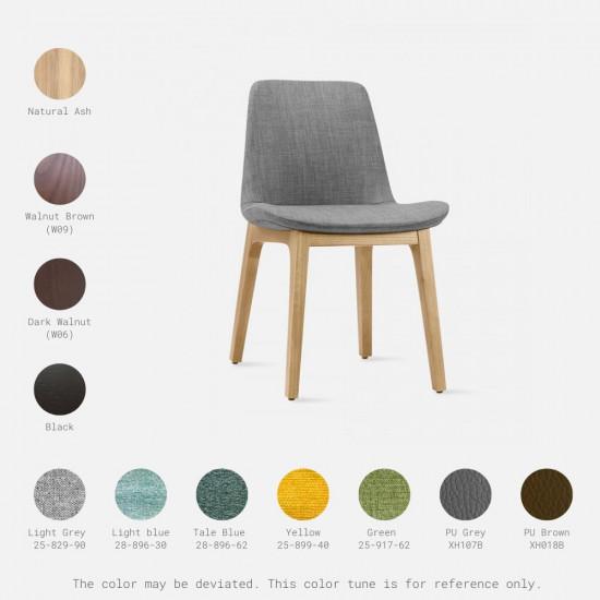Curve Full Chair, W52, Walnut