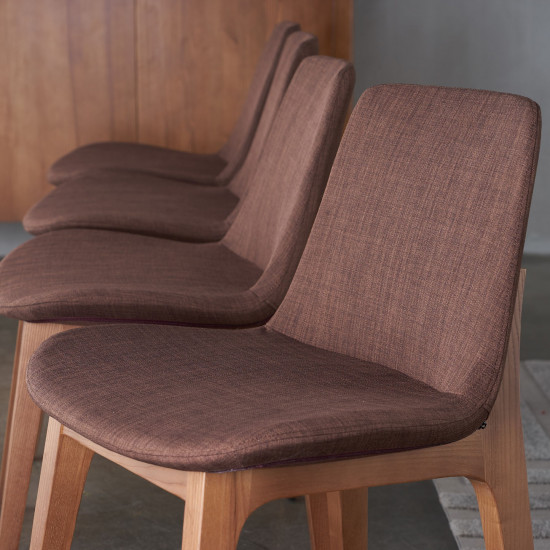 Curve Full Chair, Walnut