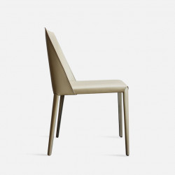 ELLIS Bounded Leather Chair, Beige