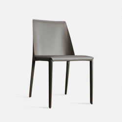 ELLIS Bounded Leather Chair, Grey