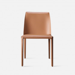 ELLIS Bounded Leather Chair, Orange