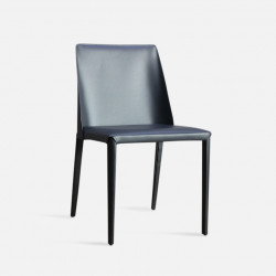 ELLIS Bounded Leather Chair, Dark Grey