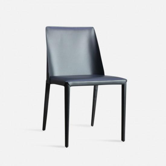 ELLIS Bounded Leather Chair, Dark Grey [Display]