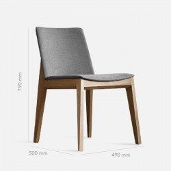[Sale] Framework Upholstered Dining Chair W48, W09, Micro Leather Brown