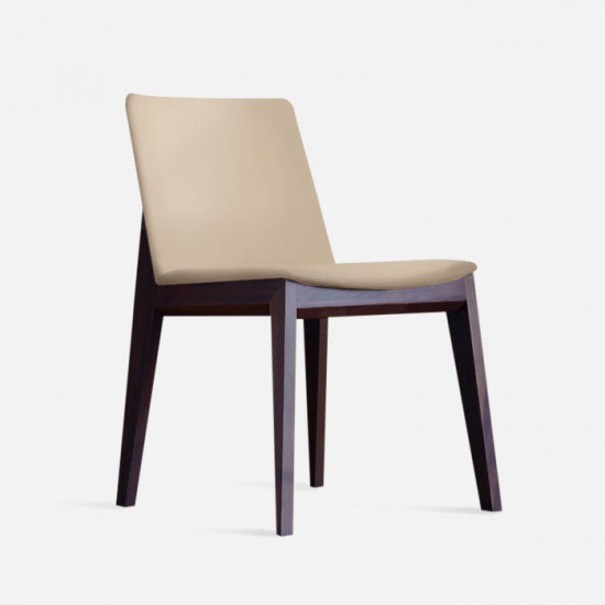 [Sale] Framework Upholstered Dining Chair, Micro Leather Brown