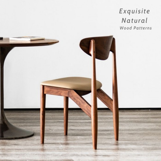 DANDY Elbow Chair II, Natural Walnut