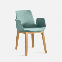 Curve Full Armchair, W56, Natural Ash
