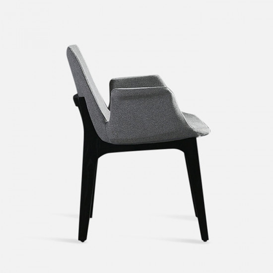 Curve Full Armchair, W56, Natural Ash