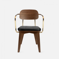 LENOX Dining Chair, Walnut Brown