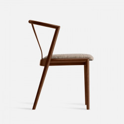 Kristina Chair, W55, Walnut Brown