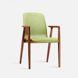 Juno Armchair, W53, Walnut Brown