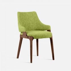 Ellis Armchair W59, Walnut Brown