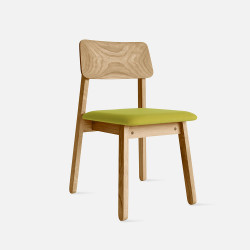 Sim Soft Chair, W39, Teak with Green [Display]