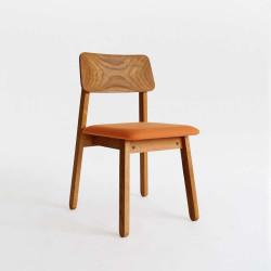 Sim Soft Chair - Teak with Orange