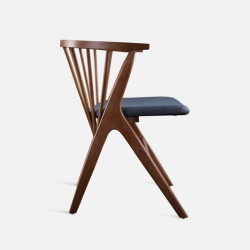 Willow Armchair, Walnut Brown