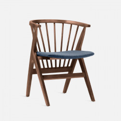 Willow Armchair, W56, Walnut Brown