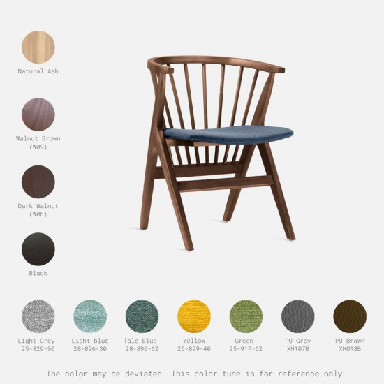 Willow Armchair, Walnut Brown