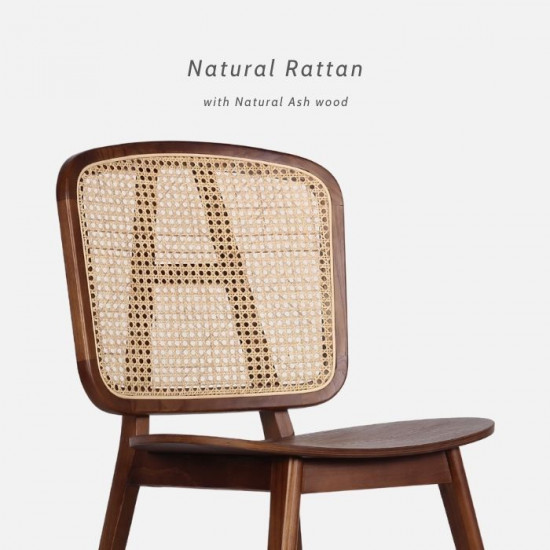 Willow Rattan Dining Chair W52