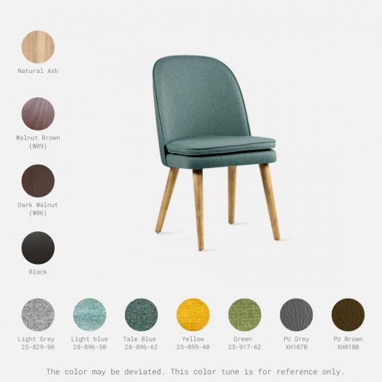 JC Armless Chair, W52, Walnut Brown