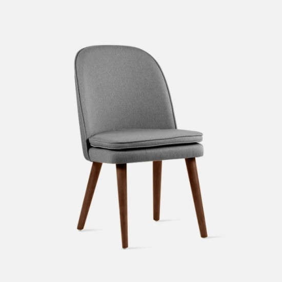 JC Armless Chair, W52, Walnut Brown