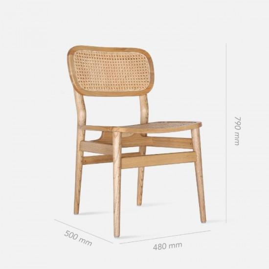 SEN Rattan Dining Chair, Walnut Brown