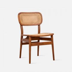 SEN Rattan Dining Chair, Teak