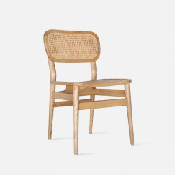 SEN Rattan Dining Chair, Natural Ash