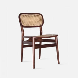 SEN Rattan Dining Chair, Walnut Brown