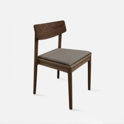 JC Dining Chair, W50, Dark Walnut