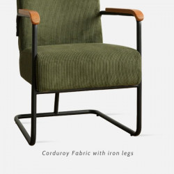 NADINE Corduroy Sofa V2, 1 seater