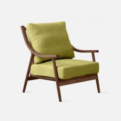 DOLCH Curve Single Sofa, Walnut