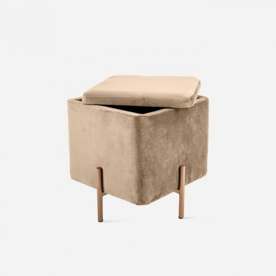Seat Snog Velvet Sand Brown