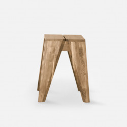 Piece Stool, Oak