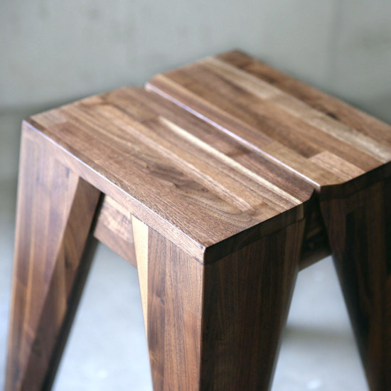 Piece Stool, Oak