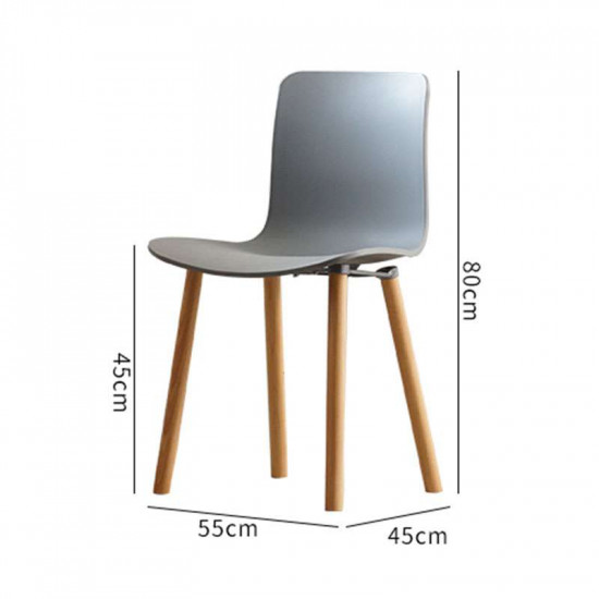 L Shape ABS, W47, Grey with Wooden legs
