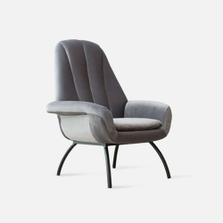 SHELL Lounge Chair - Grey