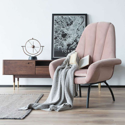 SHELL Lounge Chair - Light Pink